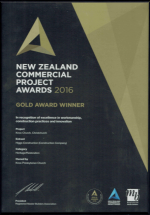 New Zealand Commercial Project Award – 2016 Gold Award Winner – Knox Church